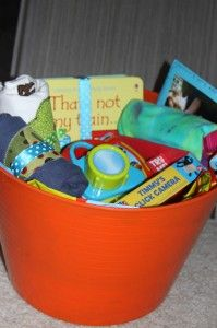 Simple Gift Basket For A First Birthday And Getting Your Kids Excited About Giving | A Spotted Pony
