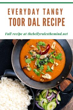 Toor dal is a bold, delectable meal that's absolutely packed with protein and fiber. Since it's so loaded with filling protein and fiber, no one in your family will go away hungry when you serve this for them. And thanks to the Instant Pot, our version of this recipe makes clean up easy and decreases the total cook time, so you can have this ready in less than an hour! Most Popular Recipes, Amazing Recipes, Favorite Recipes, Toor Dal Recipe, Dried Chillies, Jeera Rice, Good Food, Yummy Food, Superfood Recipes