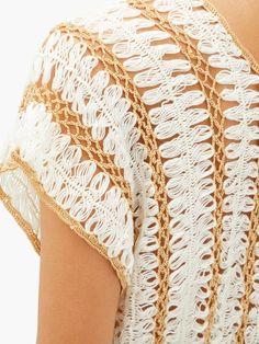 My Beachy Side Firblu crochet-knitted top Modern Crochet, Crochet Art, Crochet Patterns, Crochet Summer Tops, Bikini Pattern, Knit Tie, Fashion Line, Crochet Fashion, Hippie Chic