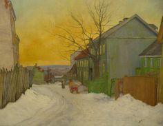 A Street in Oslo, Harald Sohlberg, 1911 | Flickr - Photo Sharing!