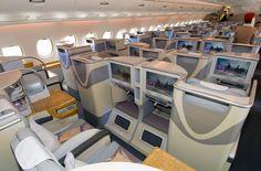 صور ومعلومات عن درجة رجال الاعمال علي طيران الاماراتية لطائرة ايرباص ايه 380