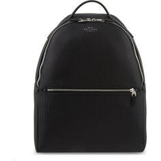 Smythson Burlington deerskin backpack ($1,225) ❤ liked on Polyvore featuring bags, backpacks, knapsack bag, backpack bags, rucksack bags, strap bag and strap backpack