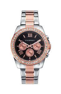 Reloj Viceroy Femme, encontrar este espectacular combinación de colores y piedras en un mismo reloj, la elegancia la tiene asegurada para una ocasión especial. www.relojes-especiales.net #zirconitas #black #watch