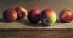 View Row Of Apples by Michael Naples on artnet. Browse more artworks Michael Naples from Susan Powell Fine Art. Apple Painting, Rose Oil Painting, Food Painting, Still Life Oil Painting, Fruit Photography, Still Life Photography, Apple Plant, Vegetable Painting, Realistic Paintings