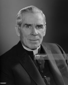 The famous Catholic Archbishop Fulton J. Sheen (1895 - 1979) is shown in a close-up portrait, New York, 1964.