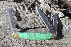 Knife Buck TRIO Pocket Knife Gift for Him Green Turquoise Black Web Free Shipping Buck 373 Stocking Stuffer