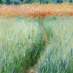 Claude Monet The Wheat Field (detail)