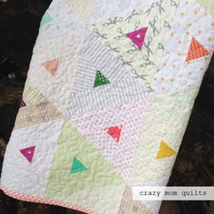 Welcome to finish it up Friday!   I spent a lot of time on my sewing machine this week and it was good! My trendy triangles quilt is now co...