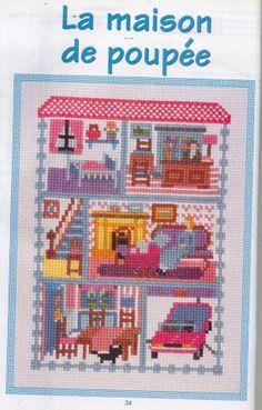 Cross Stitch House La Maison De Poupee
