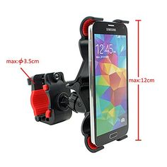 KooPower Support Guidon Fixation Telephone Portable Tablettes Vélo motos mobylettes Pour Samsung Galaxy S5/ Samsung Galaxy S5 mini/ Samsung Galaxy S4/ Samsung Galaxy S3/ Samsung Galaxy Note3/ Samsung Galaxy Note2/ iPhone6 /iPhone6 Plus/iPhone 5s/ iPhone 5c/ iPhone 4s et tous les téléphones portables (Max: 12 cm) et les Tablettes de taille inférieur à 7 Pouces(Inches)