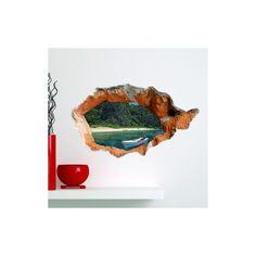 Art Mural - Stickers Muraux - 3D Sticker mural - Art Papier murale 3D Seabeach revêtements muraux PVC sticker lavables mur Sticker Mural, Art Mural, Stickers, Painting, Wall Cladding, Paper, Painting Art, Paintings, Painted Canvas