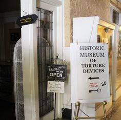 You can get your museum fix along with a side of morbidity at the Historic Museum of Torture Devices. Appropriately located in what is reputedly the most haunted town in Illinois, the museum features torture devices from all over the world. If that isn't the ultimate strange destination, we don't know what is. P...