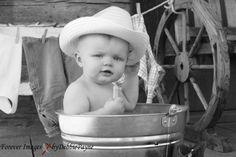 Cowboy Saturday Night, what a cute baby