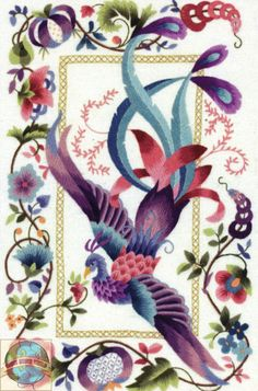 Phoenix Bird Art | Ontario Cross Stitch Embroidery Patterns Supplies Needles Metallic