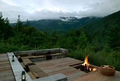 fire pit on the roof.