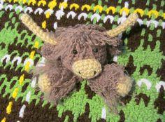 Ravelry: Highland Cow Lovey pattern by Heather Sonnenberg Crochet Lovey, Baby Blanket Crochet, Single Crochet Decrease, Double Crochet, Crochet Crafts, Crochet Toys, Selling Handmade Items, Toy Craft, Yarn Needle
