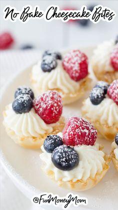 Mini Desserts, Easy To Make Desserts, Bite Size Desserts, Desserts For A Crowd, No Bake Desserts, Health Desserts, Elegant Desserts, Delicious Desserts, Finger Food Desserts