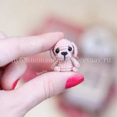 Щенок амигуруми схема миниатюрной собачки крючком | Укрась свой мир!