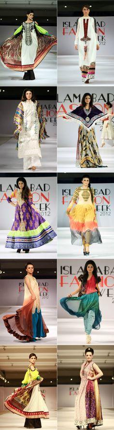 Lakhany Silk Mills Fashion Collection at Islamabad Fashion Week 2012