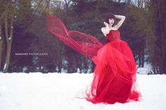 red dress in snow - Google Search