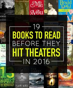 2016 is going to be an exciting year for books and movies!