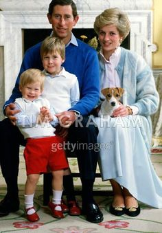 Charles & Diana & William & Harry at Highgrove.  Prince Harry is sooo adorable.