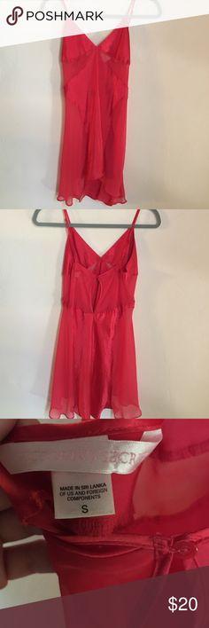 Victoria's Secret red satin sheer nightie Gently worn. Adjustable straps. Button closure in back. Victoria's Secret Intimates & Sleepwear