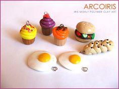 Polymer Clay Miniature Food by Iris Mishly, via Flickr