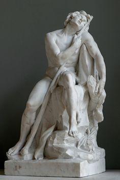 Sleeping Shepherd. 1751.Louis Claude Vasse. French 1716-1772. marble. Louvre Museum.http://hadrian6.tumblr.com