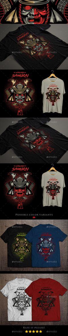 Warlord Samurai #T-shirt - Designs T-Shirts Download here: https://graphicriver.net/item/warlord-samurai-tshirt/13931823?ref=alena994
