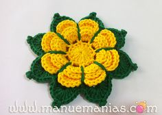 PAP - Flor da Manhã Saw this on facebook with the center in yellow, Petals in Purple, leaves in green It was beautiful!