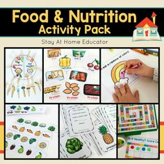 Looking for something educational food and nutrition activities for your preschoolers? This Food and Nutrition Activity Pack includes six super fun activities and multiple variations of each! It's perfect for any health theme in preschool. Whether you're looking for something to supplement your preschool or homeschooling curriculum, or looking for something to add to your centers, this printable activity pack will not disappoint!
