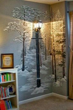 Narnia light post, for book themed nursery.