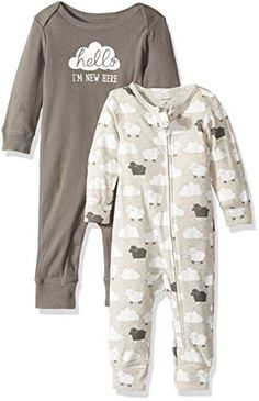 Carter's Baby 2 Pk 126g270, Grey, New Born Carter's