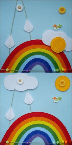 "Quiet book page ""Rainbow"""