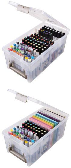 Artbin Marker Storage Satchel http://www.artistsupplysource.com/product/278086/artbin-marker-storage-satchel/