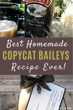 This Copycat Baileys Irish Cream Recipe uses a few simple ingredients. This is the copycat Baileys Irish Cream Recipe and it tastes as good as the original. Homemade Liqueur Recipes, Homemade Baileys, Homemade Irish Cream, Baileys Recipes, Homemade Alcohol, Homemade Liquor, Fudge Recipes, Homemade Vanilla Extract, Homemade Gifts