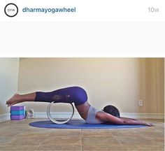 Dharma yoga wheel exercise from @dharmayogawheel