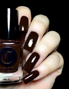 Fashion Polish: Cirque Colors The Metropolis collection November edition :  Knickerbocker is a dark chocolate crem