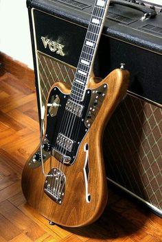 Cabronita Thinline Jaguar with block bound neck