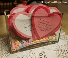 Make a month of Valentine's for your spouse - kids need to see that mom and dad love each other!