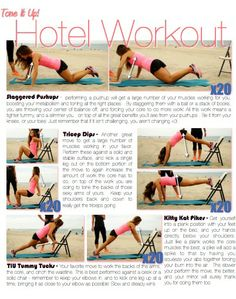 Are you a women on the go? This perfect Hotel workout will help keep you feeling Happy. Hip. Helpful. everyday! #iiHeartforWomen | Initials, Inc.