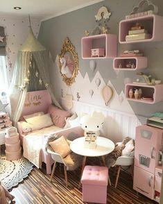 Little girls bedroom Baby Bedroom, Girls Bedroom, Bedroom Decor, Bedroom Ideas, Big Girl Bedrooms, Little Girl Rooms, Toddler Rooms, Girl Bedroom Designs, Daughters Room