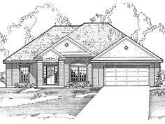 Eplans New American House Plan - Three Bedroom New American - 1719 Square Feet and 3 Bedrooms from Eplans - House Plan Code HWEPL55807