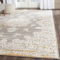 Safavieh Passion Watercolor Vintage Grey / Ivory Rug (9' x 12') - 17555771 - Overstock.com Shopping - Great Deals on Safavieh 7x9 - 10x14 Rugs