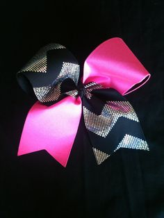Hot Pink Holographic Chevron Cheer Bow via Etsy Cheer Coaches, Cheer Stunts, Cheer Dance, Softball Bows, Cheerleading Bows, Cute Cheer Bows, Big Bows, Chevron Bow, Cheer Quotes