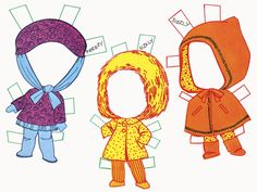Liddle Kiddles paper doll clothes