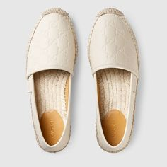 f2832ee31 Gucci Signature leather espadrille - Gucci Women s Espadrilles  amp  Wedges  454703CWC109022 Womens Espadrilles Wedges