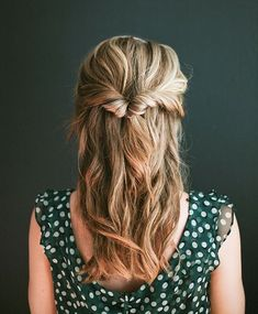 10 easy half updos for any occasion 6