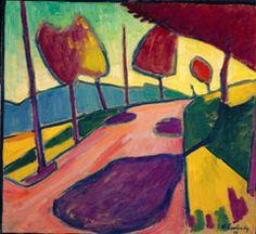 Wassily Kandinsky (1866 -1944) De Eerste Wereldoorlog maakte een einde aan 'der blaue reiter'. Marc en Macke sneuvelden en Klee, Kandinsky en anderen verlieten het land.